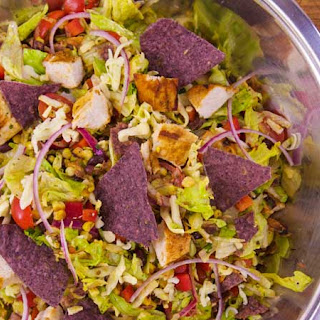 Smoky Chicken Chopped Taco Salad.