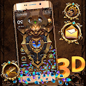 3D Royal Golden Skull Gravity Theme icon