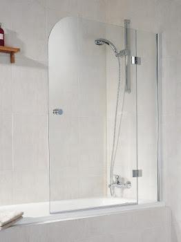 Pare-baignoire, sans cadre, 150 cm, 2 éléments, D7050