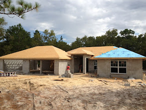 Photo: September 17, 2012 We've got a roof! Well, the vast majority of one, anyway. Photo by Lake Weir Living