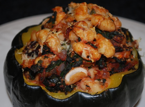Acorn Squash Stuffed With Chard And White Beans Recipe