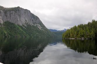 Photo: Misty Fjords huge granite cliff