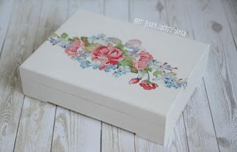 Photo: pudełko na obrączkiflowers rustic
