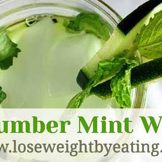Detox Lime Cucumber Mint Water.