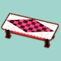 ラブリーローテーブル(ピンク&ブラック)