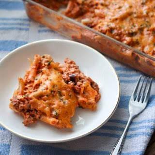 Super Simple Beef Ricotta Pasta.