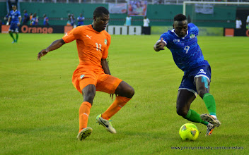 Photo: Alhassan 'Crespo' Kamara  [Leone Stars v Ivory Coast, 6 September 2014 (Pic © Darren McKinstry / www.johnnymckinstry.com)]