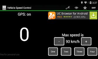 Screenshot of Vehicle Speed Control + HUD