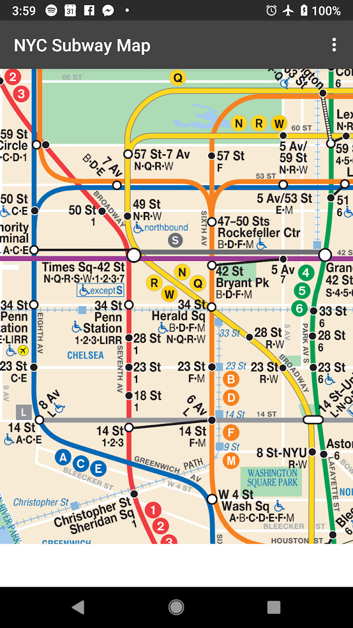 Free Offline Nyc Subway Map.Map Of Nyc Subway Offline Mta Ad Free V3 2 9 For Android Apk