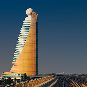 Dubai from metro by Zdenka Rosecka - Buildings & Architecture Office Buildings & Hotels ( Urban, City, Lifestyle )