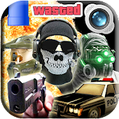 Gaming Photo Editor: Night Vision Shooter Sticker