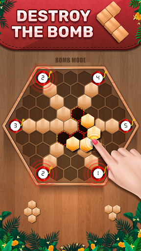 Wooden 100 Block Puzzle: Wood Hexa Star Gem apktram screenshots 3