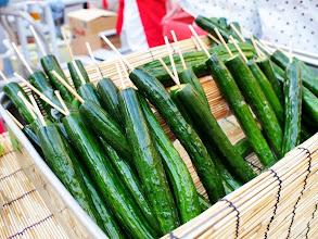 Photo: Cool as cucumbers, Ebisu; anonymous photo