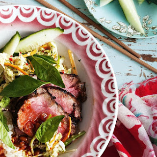 Marinated beef with Asian slaw