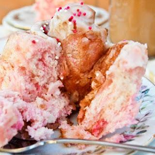 Pink Swirl Cinnamon Rolls