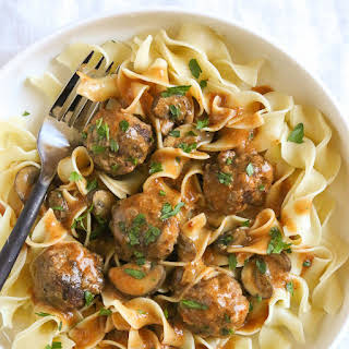 Turkey Meatball Stroganoff (Instant Pot, Slow Cooker or Stove Top).