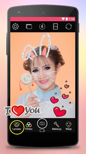 Yoplala sweet filter camera to snap video & photo  screenshots 1