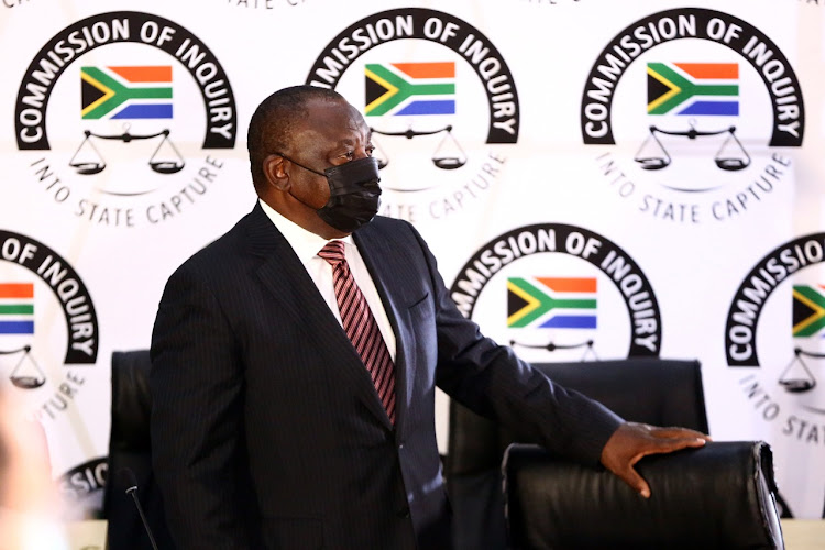 President Cyril Ramaphosa appeared before the state capture inquiry on Wednesday in his capacity as president of the ANC.