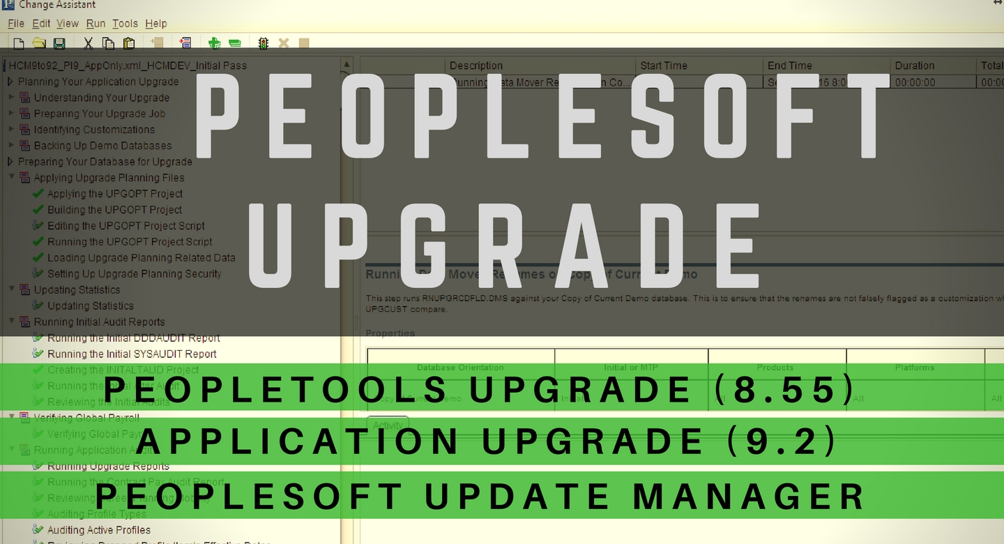 PeopleSoft Upgrade