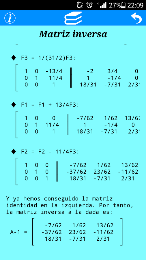 Matrices- screenshot