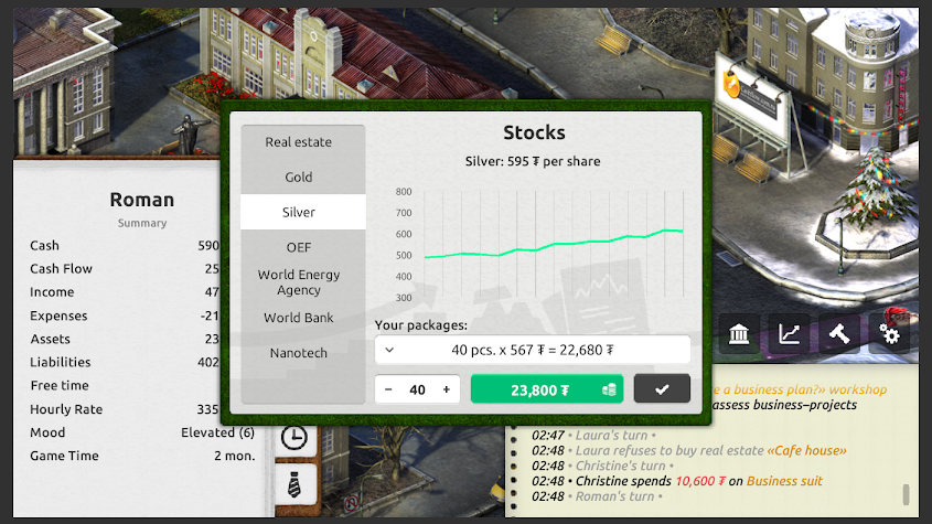 Time and Money: Timeflow Simulator Screenshot