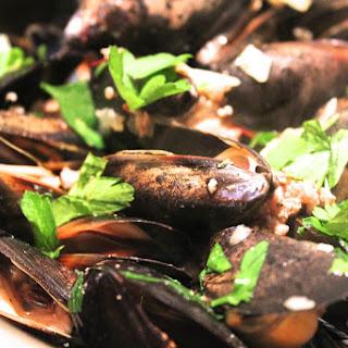 Saffron Chorizo Mussels.