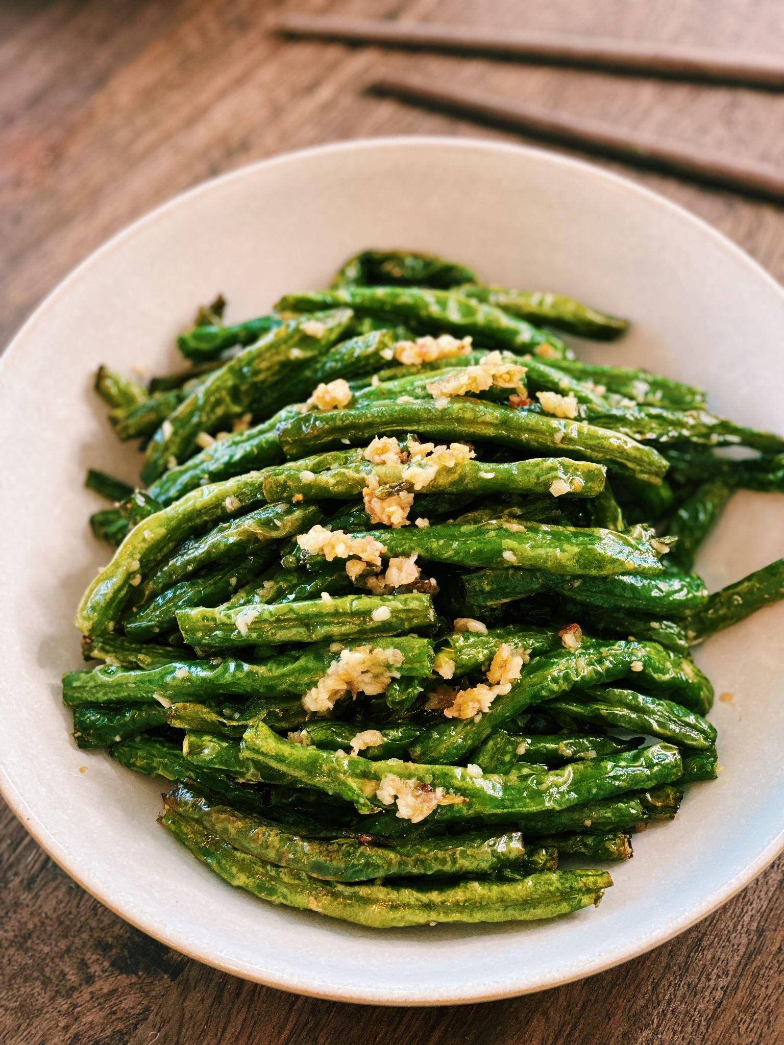 Stir-Fried Garlic Green Beans (3 Ingredients ONLY!)
