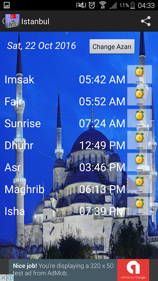 Turkey Prayer Timings -Islamic- screenshot