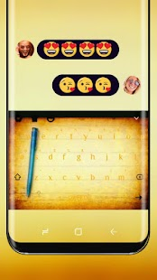 Yellow Notes Drawing Keyboard Theme Notepad - náhled