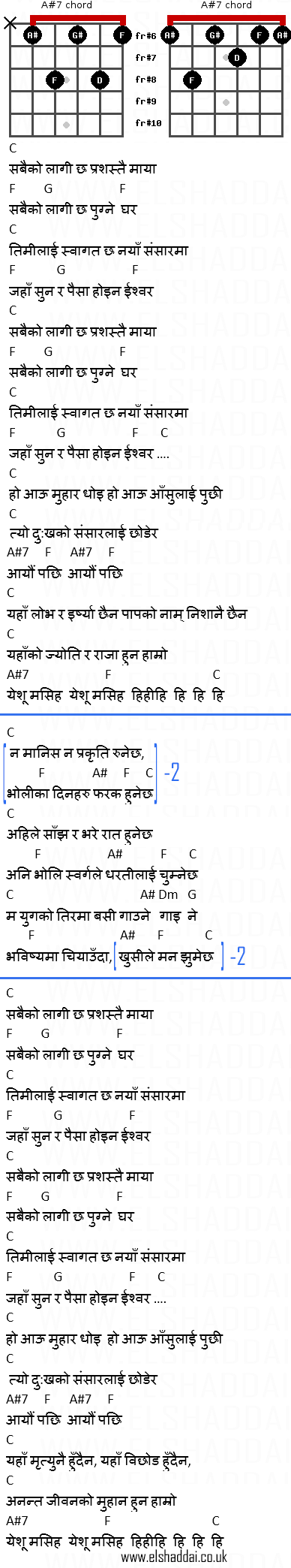 Naya Sansaar By Adrian Dewan Nepali Christian Song Chords and ...