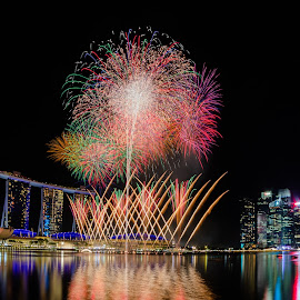 New Year's Fireworks by Mann Renzef - Public Holidays New Year's Eve ( fireworks, night photography,  )