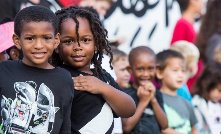 School kids in Detroit