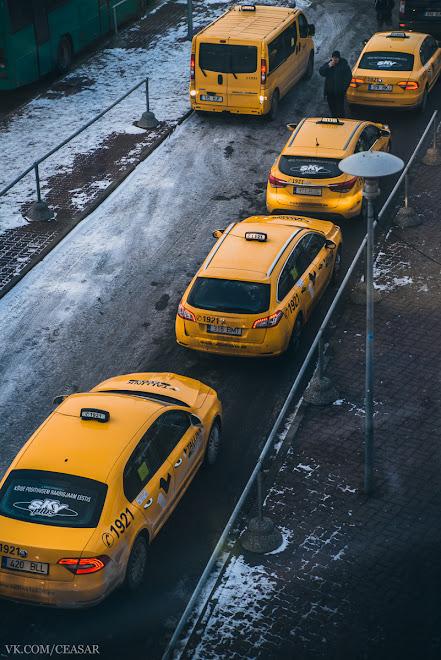 Такси в порту Таллина