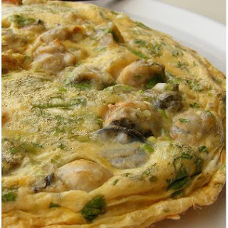 Fresh Mixed Herb Omelette.