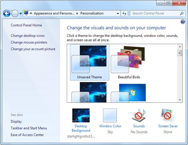 Thay đổi hình nền khởi động Windows 7