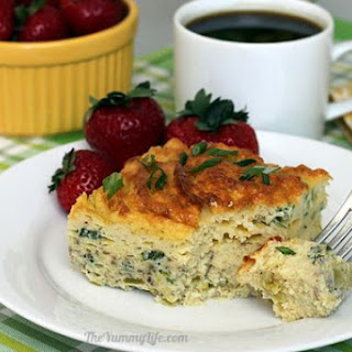 Yogurt Egg Puff Casserole - Green Chile & Onion.