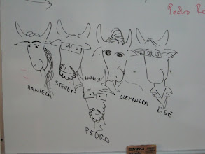 Photo: My class was called the Toritas, or little bulls, by maestro Pedro who drew this cartoon of us.