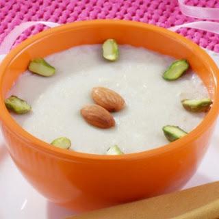 Coconut Milk Indian Pudding