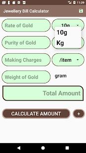 Jewellery Bill Calculator - náhled