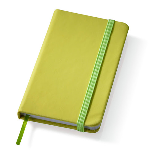 Printed Rainbow Notebooks Lime Green