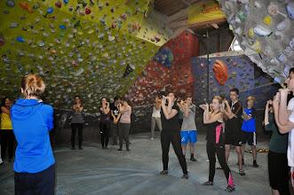 Photo: Bouldrování na horolezecké stěně (Lezecké centrum Tendom Blok v Ostravě-Vítkovicích, pondělí 26. leden 2015).