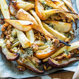 Roasted Parsnip, Pear, Blue Cheese and Walnuts Recipe