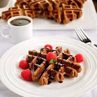 Chocolate Buckwheat Waffles ~ GF.