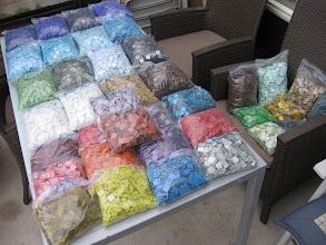 Photo: een tafel voor mozaïeksteentjes!