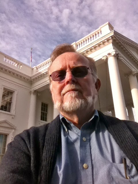 Photo: Selfie at the East Portal of the White House, Washington, D.C. after a tour.