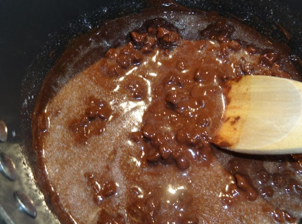 Stir the mixture until smooth, then remove from burner and set aside to cool....
