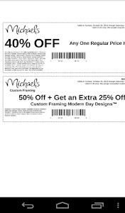 Coupons for Michaels Canada screenshot 1