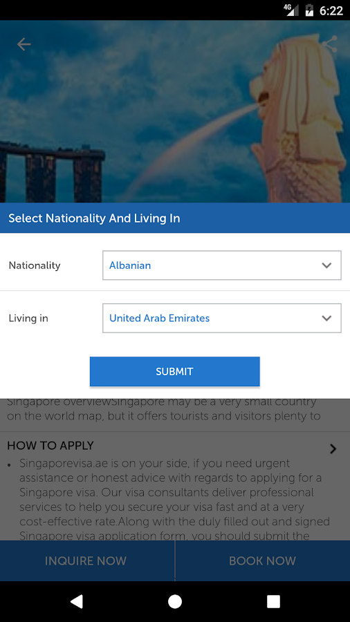 Singapore Visa- screenshot