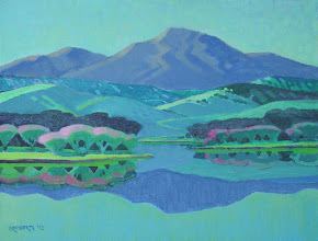 Photo: Diablo from Marsh Creek Reservoir, acrylic on canvas by Nancy Roberts, copyright 2014. Private collection.