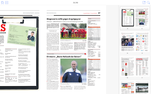 RevierSport ePaper – Miniaturansicht des Screenshots